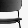 Co Chair | Black Oak / Black Leather