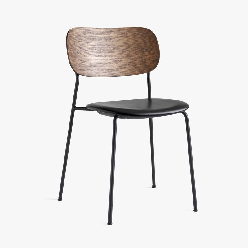 Co Chair | Dark Oak / Black Leather