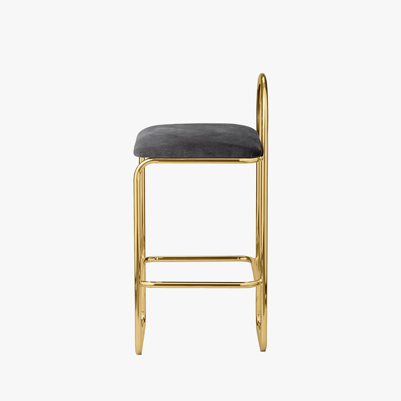 ANGUI Barchair | Anthracite/Gold (Low)