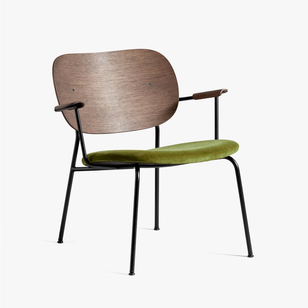 Co Lounge Chair | Dark Oak / Green Velvet