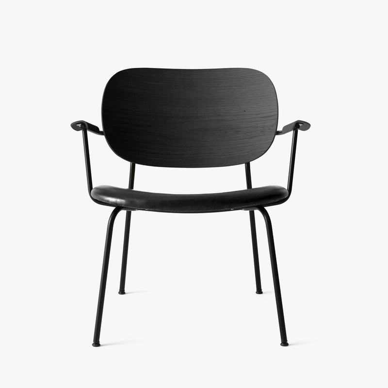 Co Lounge Chair | Black Oak / Black Leather