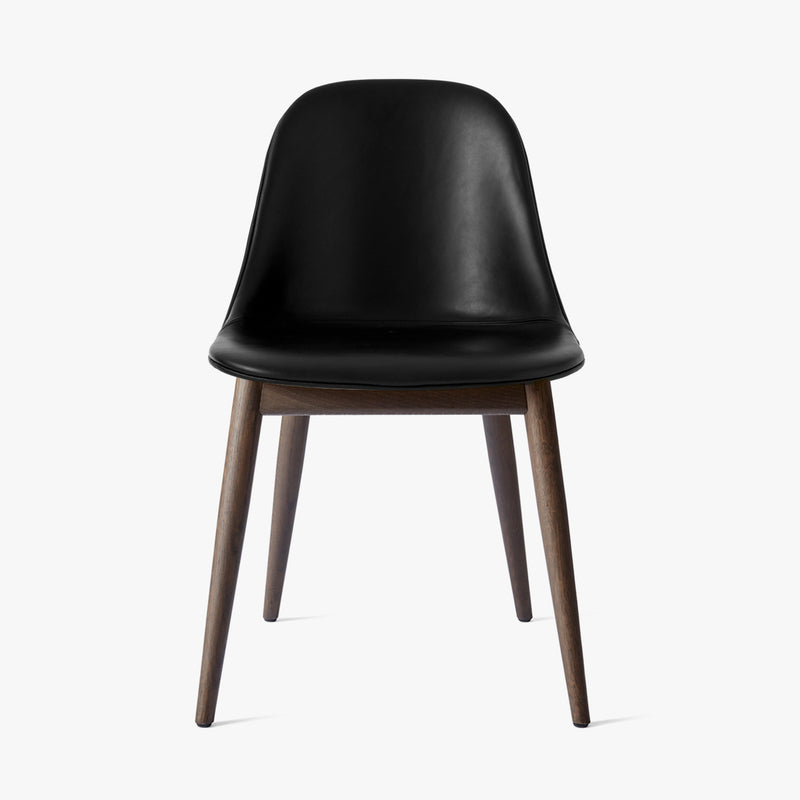 Harbour Side Chair | Black Leather / Dark Oak