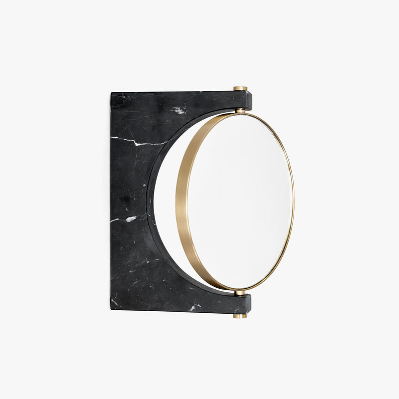 Pepe Marble Mirror, Wall | Black