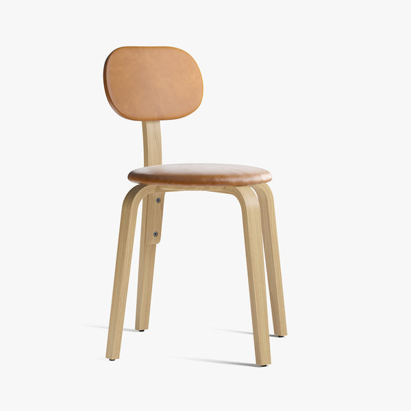 Afteroom Plywood Chair | Oak / Cognac