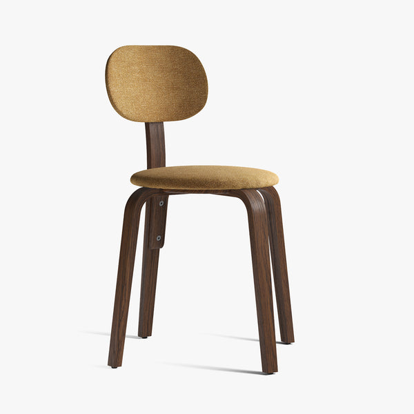 Afteroom Plywood Chair | Dark Oak / Yellow