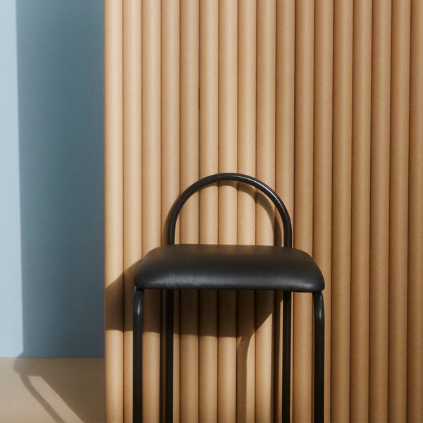ANGUI Barchair | Black Leather (Low)