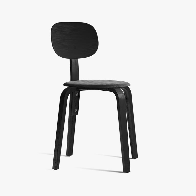 Afteroom Chairs Plus, Wood Base | Black