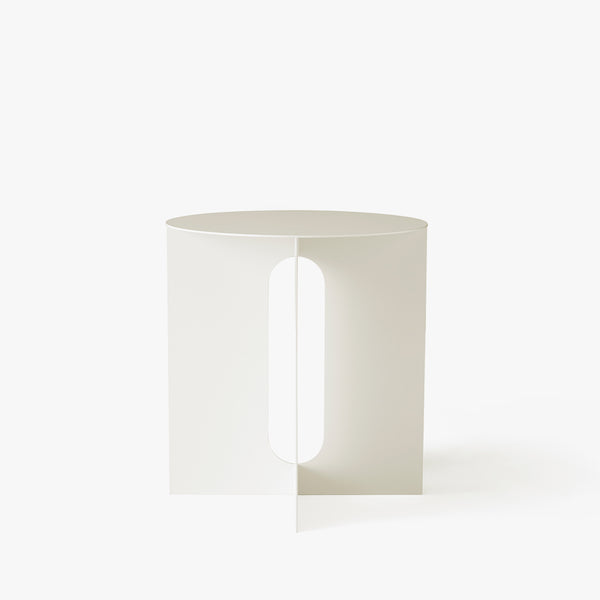 Androgyne Side Table | Ivory Steel