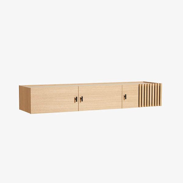 Array Low Sideboard, Wall Mounted (150) | Oak