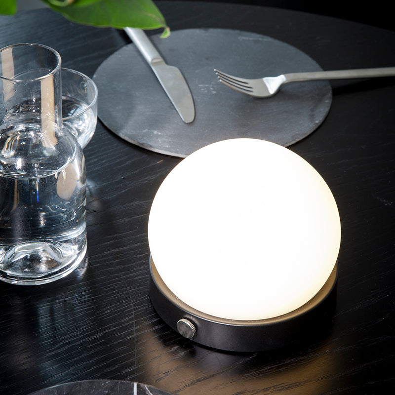Carrie LED Portable Lamp | Black