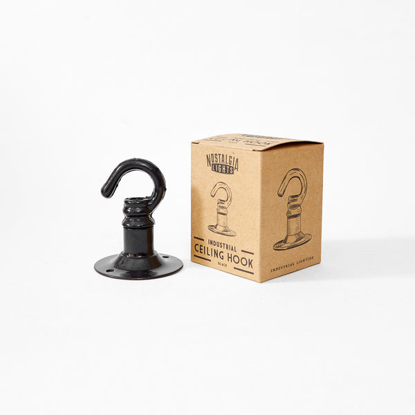 Industrial Ceiling Hook | Black