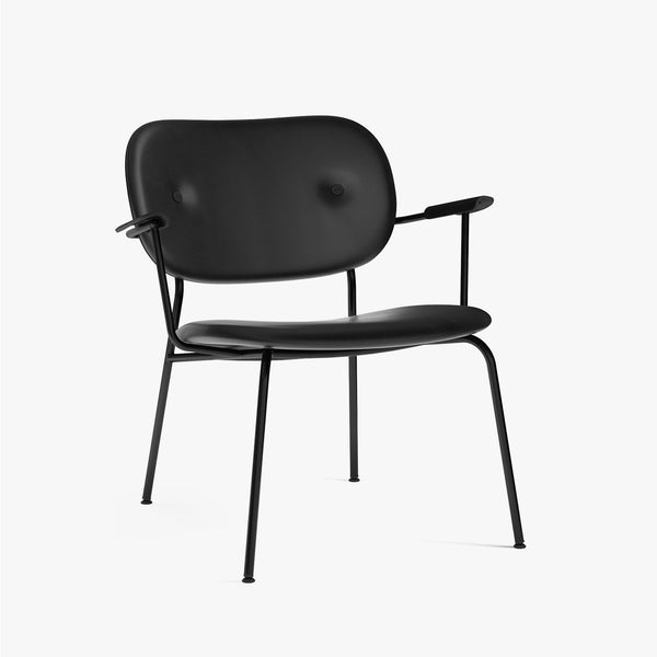 Co Lounge Chair, Fully | Black Leather