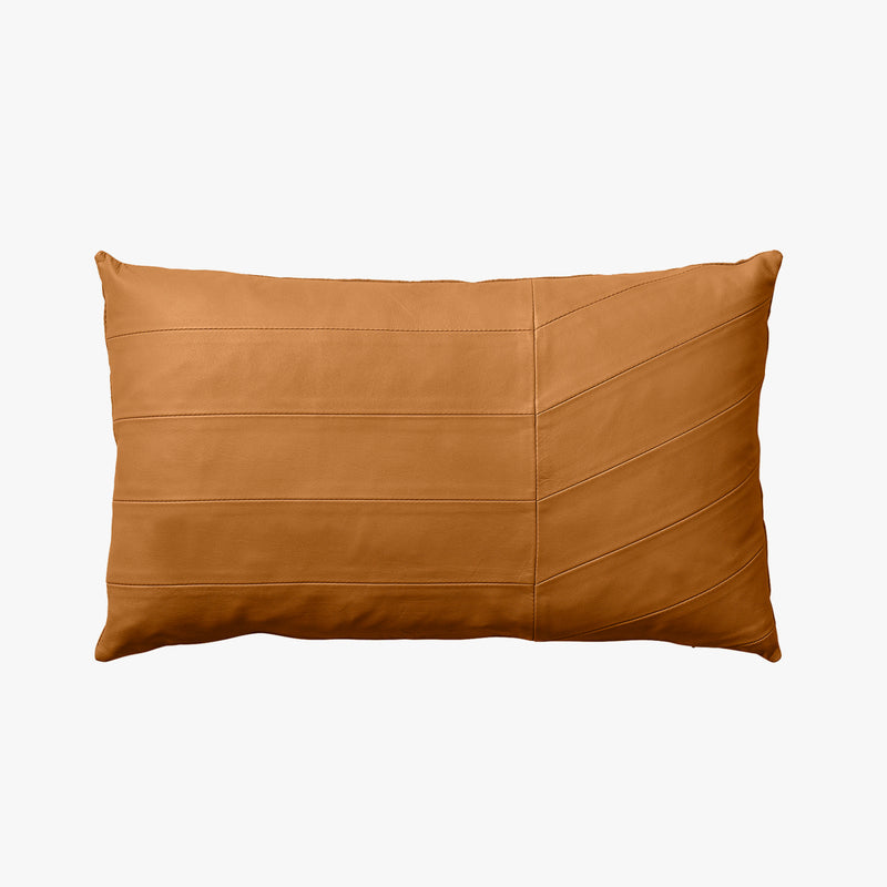 CORIA Leather Cushion - Amber