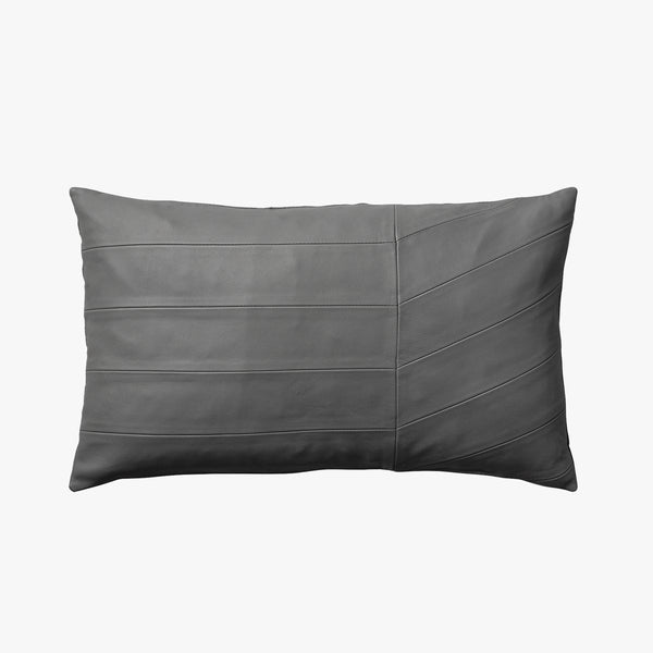 CORIA Leather Cushion - Dark Grey