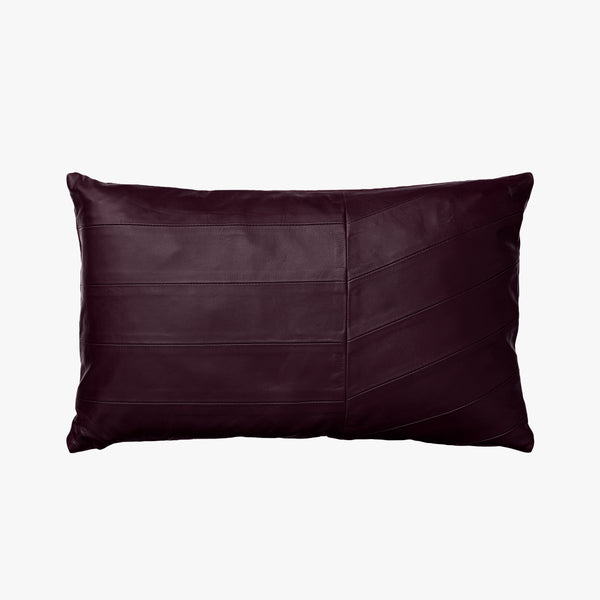 CORIA Leather Cushion | Bordeaux