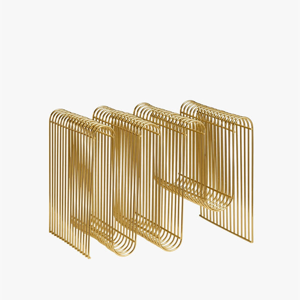 CURVA Magazine Holder | Gold