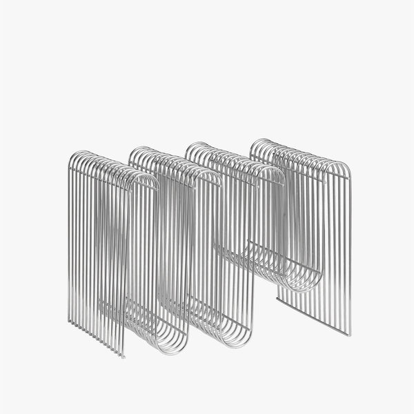 CURVA Magazine Holder | Silver