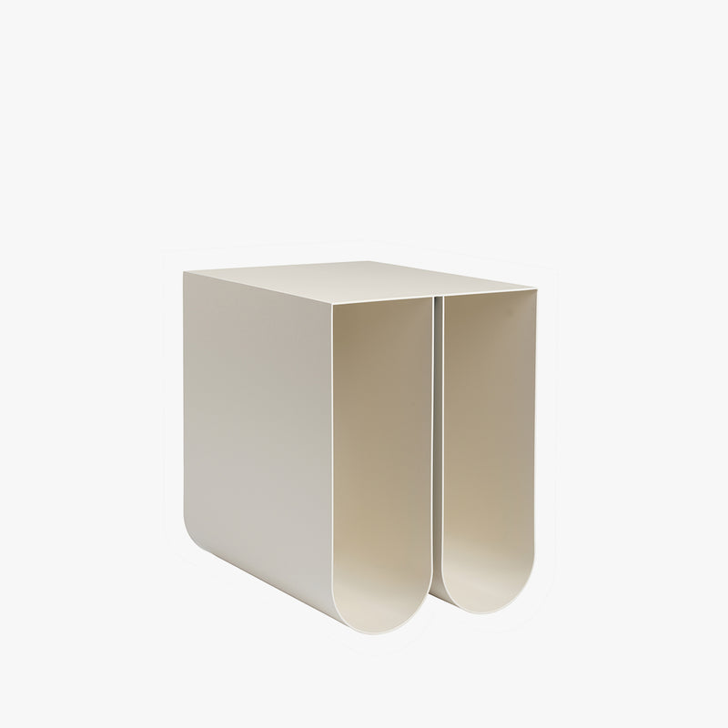 Curved Side Table | Beige