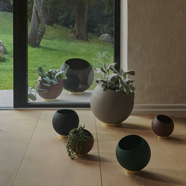 GLOBE Flower Pot | Taupe (L)