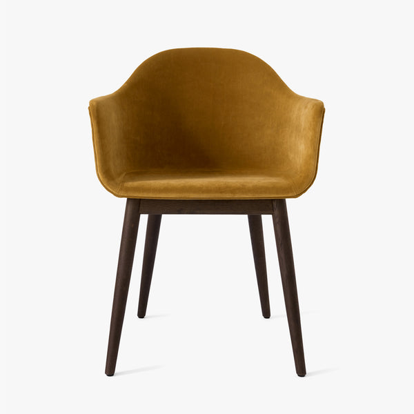 Harbour Chair | Yellow Velvet / Dark Oak