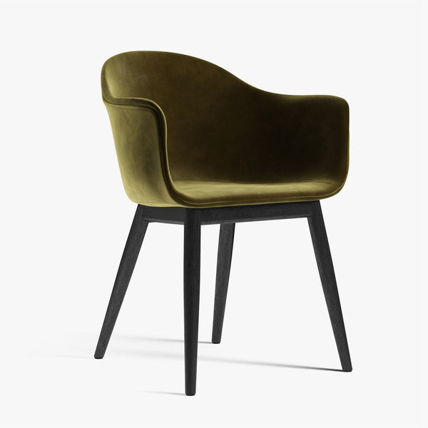 Harbour Chair | Green Velvet / Black Oak