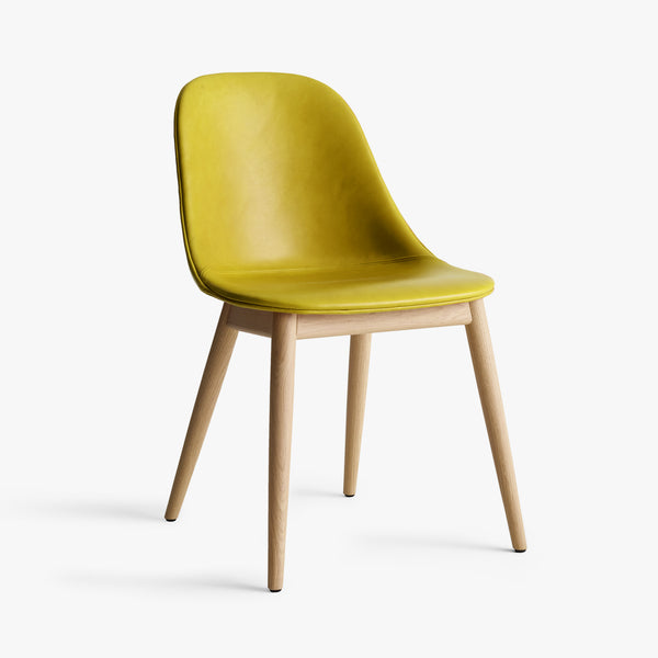 Harbour Side Chair | Yellow Leather / Natural Oak