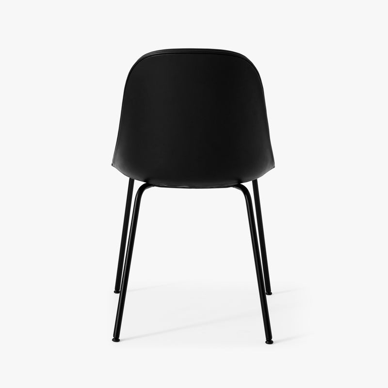 Harbour Side Chair | Black Leather / Black Steel