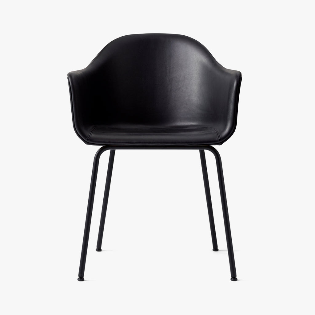 Harbour Chair | Black Leather / Black Steel
