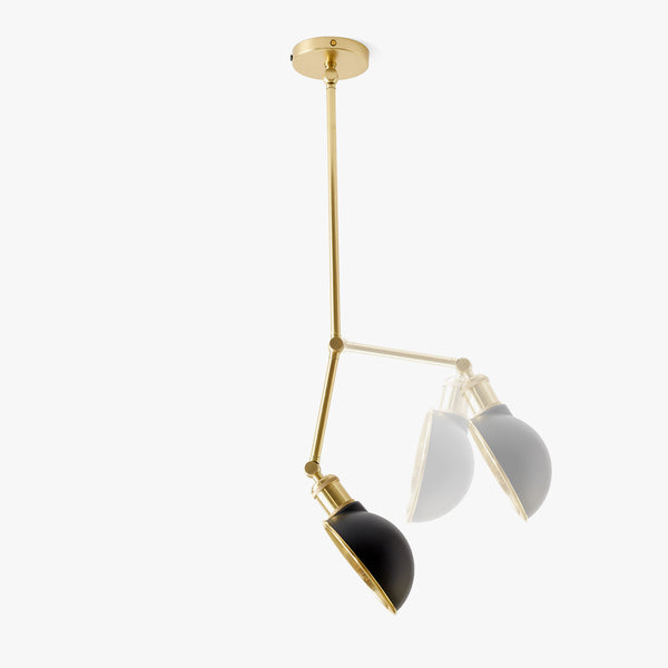 Hudson Ceiling/Wall Lamp | Brass