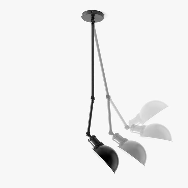 Hudson Ceiling/Wall Lamp | Black