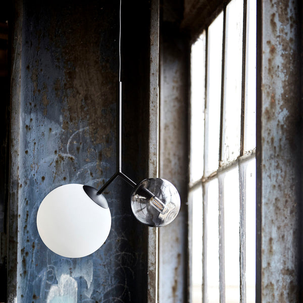 Twice Pendant Lamp | White/Black