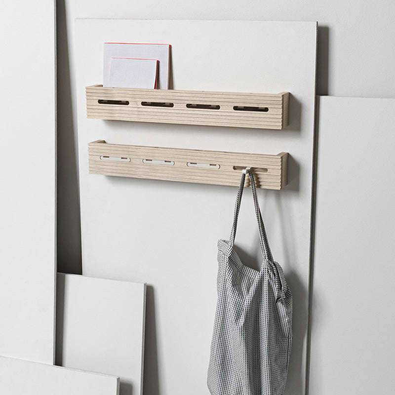 Line-up Wall Rack | White