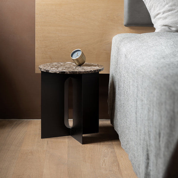Androgyne Side Table | Emperador Top