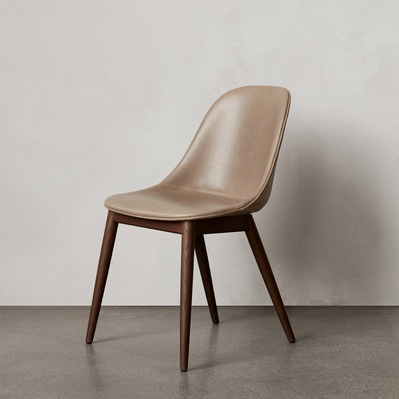 Harbour Side Chair | Brown Leather / Dark Oak
