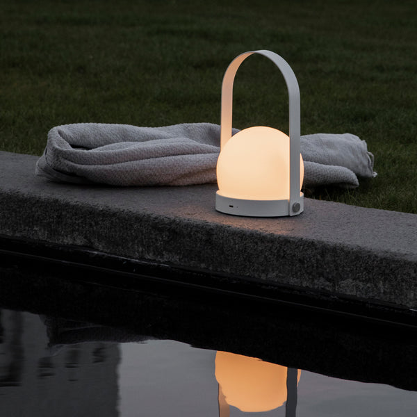 Carrie LED Portable Lamp | White