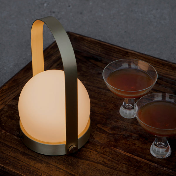 Carrie LED Portable Lamp | Brass