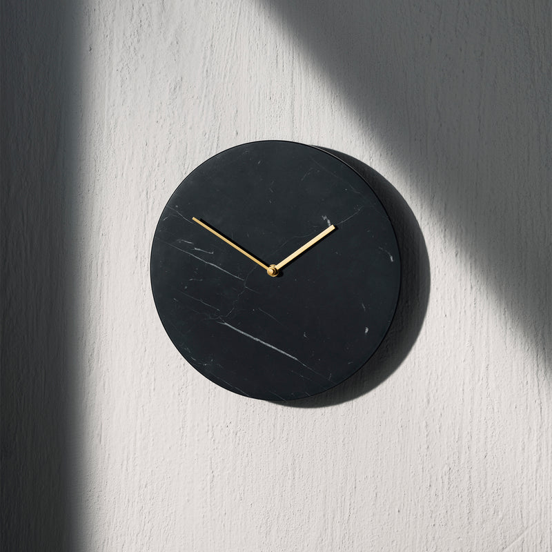 Marble Wall Clock | Black