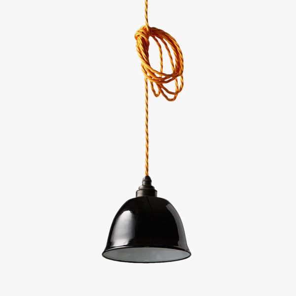 Miniature Bell Enamel Lamp Shade | Black