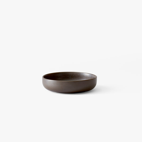 New Norm Low Bowl Ø13.5 cm | Dark Glazed