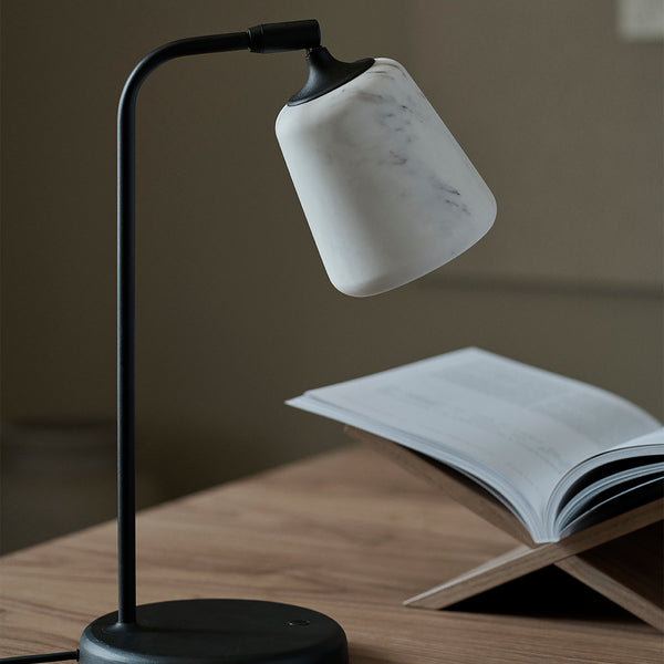 Material Table Lamp | Marble, White