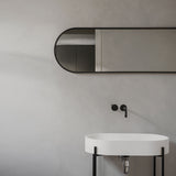 Norm Oval Wall Mirror | Black