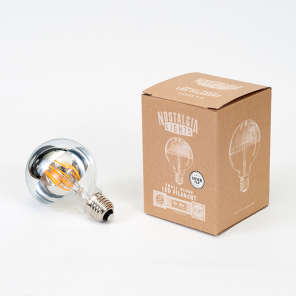 Nostalgia Lights Small Globe LED Silver Cap
