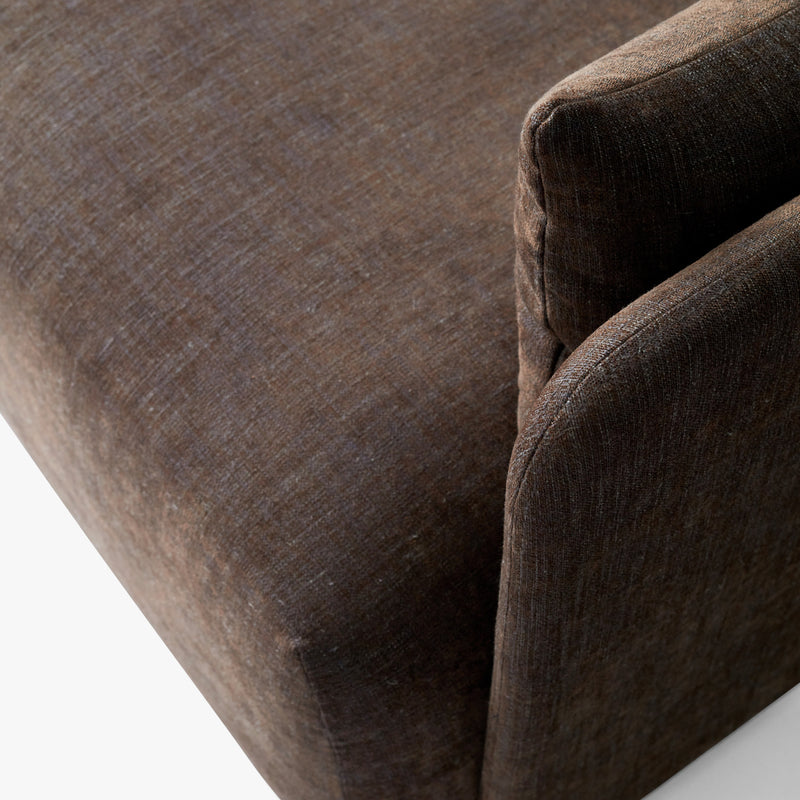 Offset Sofa, 3 Seater | Brown
