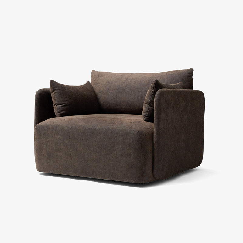 Offset Sofa, 1 Seater | Brown