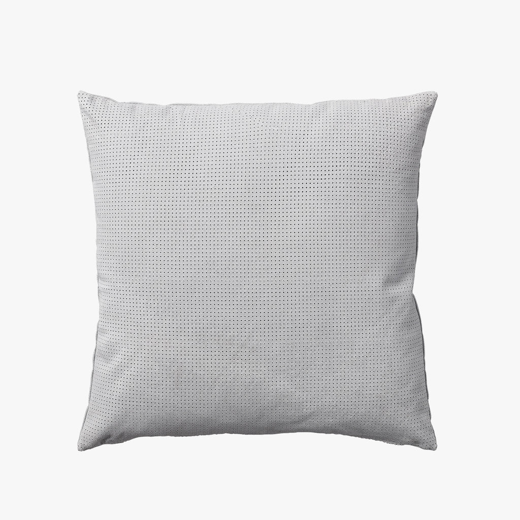 PUNCTA Dotted Suede Cushion - Light Grey