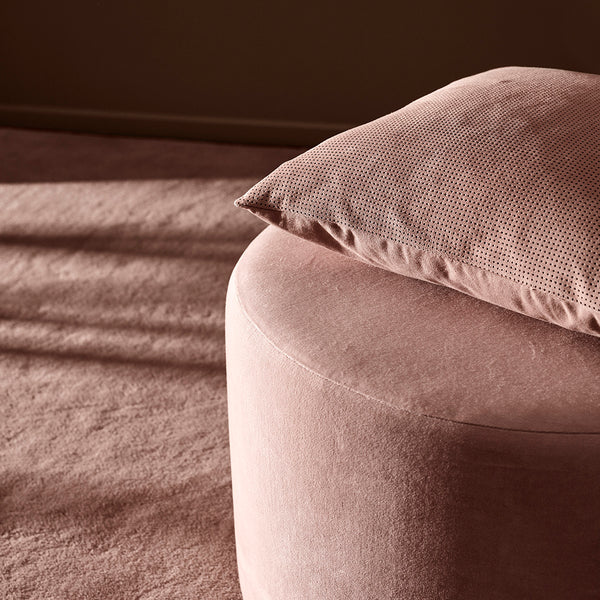 PUNCTA Dotted Suede Cushion - Rose