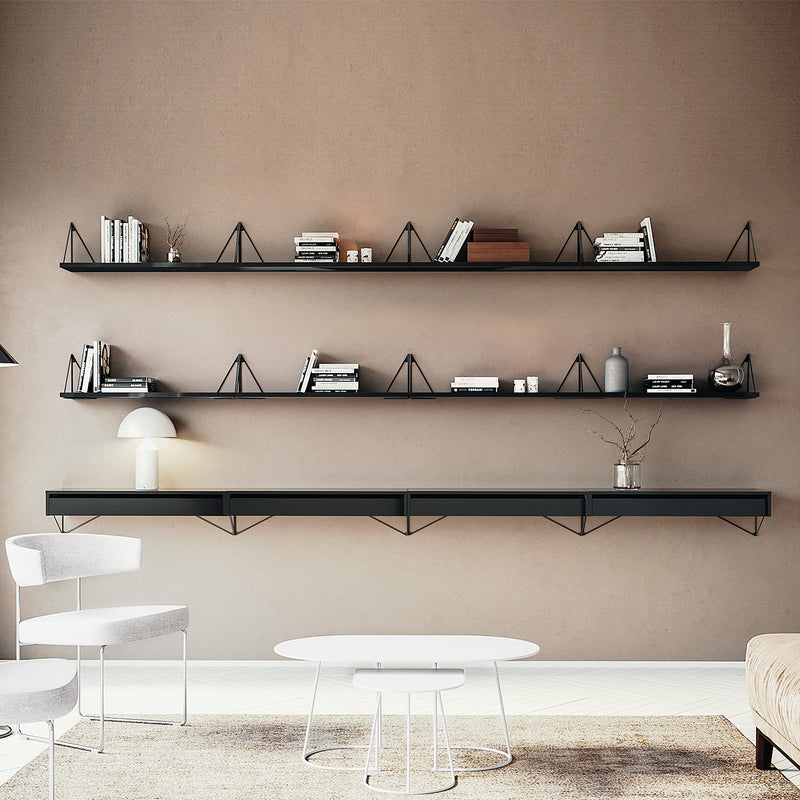 Pythagoras Shelf | Black (L)