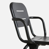 Ray Café Armchair (2pcs) | Charcoal Black