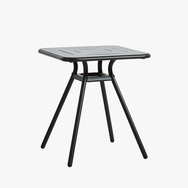 Ray Dining Table (Square) | Charcoal Black