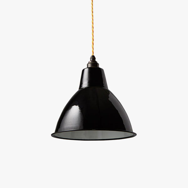 Nostalgia Small Dome Enamel Shade | Black